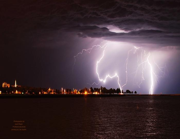 Lightning storm media